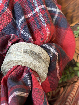 WOOD BARK NAPKIN RING- GREY - Infinity Raine