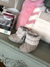 Load image into Gallery viewer, STEPPING STONES STYLISH FAUX FUR BOOTIES-3-6 MONTHS - Infinity Raine