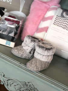 STEPPING STONES STYLISH FAUX FUR BOOTIES-3-6 MONTHS - Infinity Raine