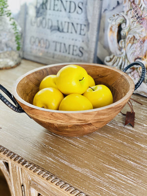 NATURAL WOOD SERVING BOWL - Infinity Raine