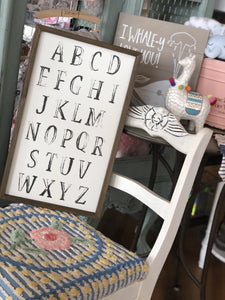 ABC DISTRESSED WOODEN SIGN - Infinity Raine