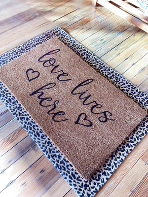 LOVE LIVES HERE DOOR MAT - Infinity Raine