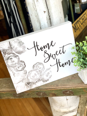 HOME SWEET HOME WOODEN SIGN-WHITE - Infinity Raine