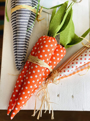 Weighted Decor Carrots-Orange/Dots - Infinity Raine