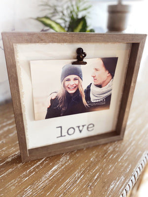 Love Picture Frame With Clip - Infinity Raine