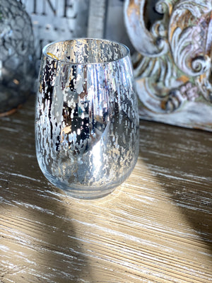 METALLIC VOTIVE CANDLE HOLDER-SILVER - Infinity Raine