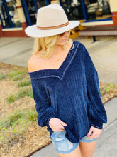 Load image into Gallery viewer, OH SO SOFT CHENILLE KNIT SWEATER-NAVY - Infinity Raine