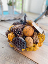 Load image into Gallery viewer, HARVEST SPICE POTPOURRI VASE FILLER-YELLOW-BROWN - Infinity Raine