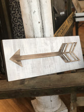Load image into Gallery viewer, LEAD THE WAY DISTRESSED WOODEN ARROW SIGN - Infinity Raine