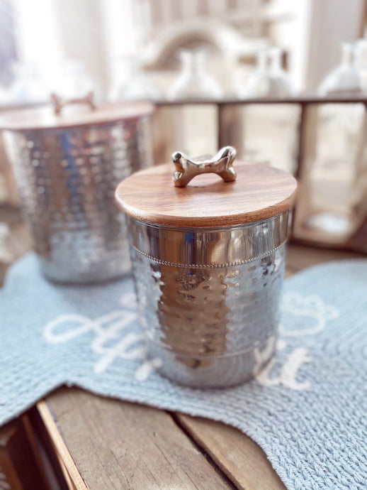 GIVE EM A TREAT STAINLESS STEEL CANISTER-SMALL - Infinity Raine