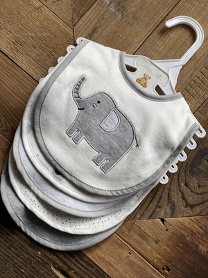 MY CUTE LITTLE ELEPHANT SET OF 5 BIBS - Infinity Raine