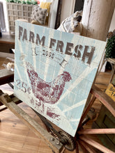 Load image into Gallery viewer, FARM FRESH EGGS WOODEN SIGN - Infinity Raine