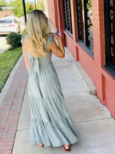 Load image into Gallery viewer, STILL THE ONE TIERED MAXI DRESS-SAGE - Infinity Raine