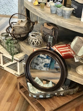 Load image into Gallery viewer, ANTIQUED BRONZE STOPWATCH STYLE WALL MIRROR - Infinity Raine