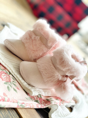 STEPPING STONES STYLISH FAUX FUR BOOTIES- 6/9 MONTHS - Infinity Raine