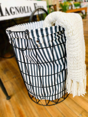 Pick Up Time Wired Laundry Basket-Black - Infinity Raine