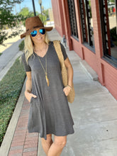 Load image into Gallery viewer, MY EVERYDAY T-SHIRT DRESS-CHARCOAL - Infinity Raine