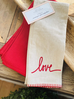 VINTAGE LOVE KITCHEN TOWELS SET OF 3 - Infinity Raine