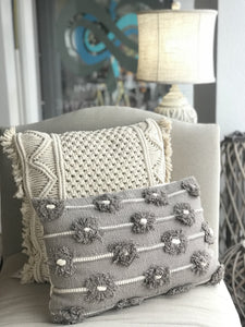 LET'S GET OUT OF HERE THROW PILLOW- GREY - Infinity Raine