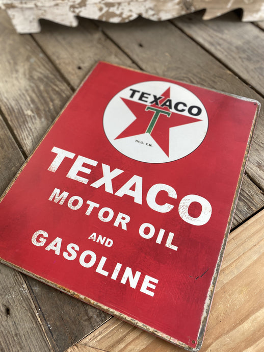 TEXACO VINTAGE LOOK COLLECTOR METAL SIGN - Infinity Raine