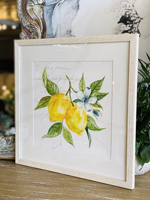 If Life Gives You Lemons Wooden Frame Print - Infinity Raine
