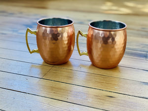 HAVE A DRINK MOSCOW MULE SET OF MUGS-MATTE HONEYCOMB - Infinity Raine