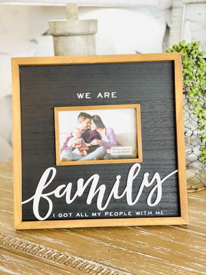 WE ARE FAMILY WOOD FRAME - Infinity Raine