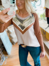 Load image into Gallery viewer, GET A MOVE ON WAFFLE KNIT LONG SLEEVE TOP-TAUPE/BROWN - Infinity Raine