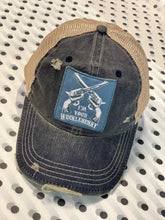 Load image into Gallery viewer, I'M YOUR HUCKLEBERRY DISTRESSED BASEBALL HAT- NAVY - Infinity Raine