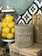 Load image into Gallery viewer, FARM HOUSE KITCHEN CONCRETE UTENSIL HOLDERS-GREY/WHITE - Infinity Raine