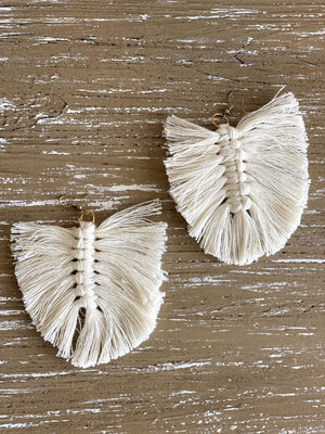 FALLEN LEAF EARRINGS- CREAM - Infinity Raine