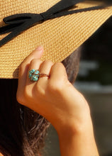 Load image into Gallery viewer, STATEMENT BOHEMIAN STONE WIRE RING COPPER/ROUND STONE - Infinity Raine
