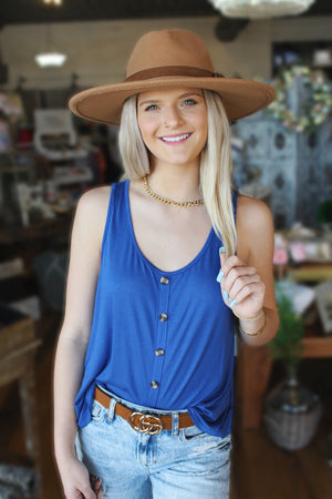 Out And About Tank Top-Royal Blue - Infinity Raine