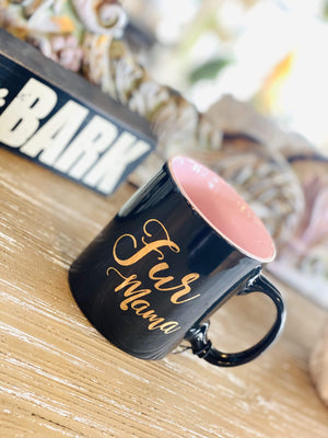 Fur Mama Coffee Mug-Black - Infinity Raine