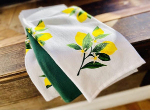 LEMON SPRIG KITCHEN TOWELS - Infinity Raine