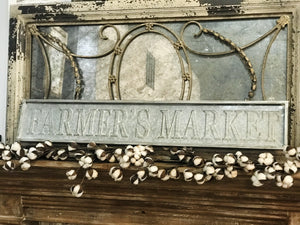 STAMPED FARMERS MARKET SIGN-METAL - Infinity Raine