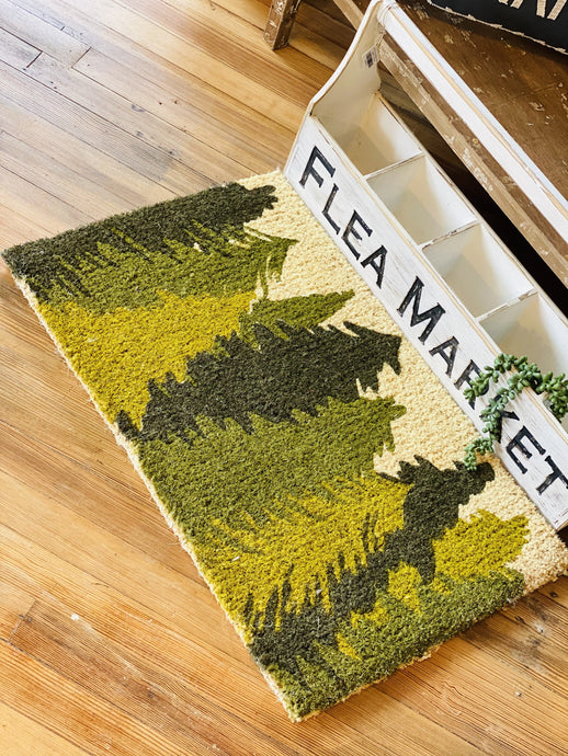 EVERGREEN DOOR MAT- GREEN AND CREAM - Infinity Raine