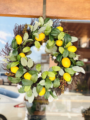 Ready For Warm Weather Lemon Wreath - Infinity Raine