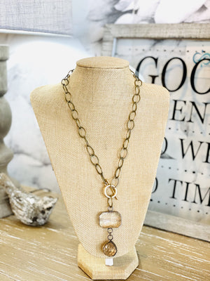TO FIND THE MOON CHAIN NECKLACE-BRONZE - Infinity Raine