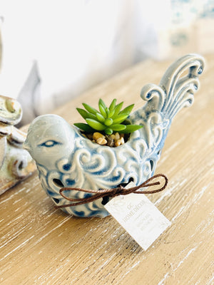 Spread Your Wings Bird Succulent Aroma Diffuser-Baby Blue - Infinity Raine