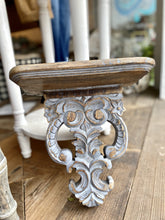 Load image into Gallery viewer, CARVED WOOD ORNAMENTAL SHELF - Infinity Raine