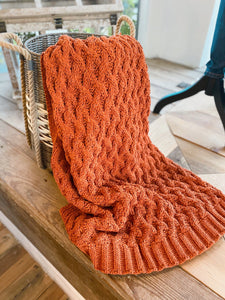 SHADES OF AUTUMN CABLE KNIT CHUNKY THROW - Infinity Raine