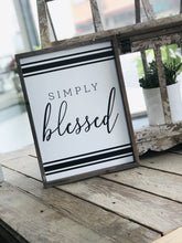Load image into Gallery viewer, SIMPLY BLESSED WOODEN SIGN-WHITE - Infinity Raine