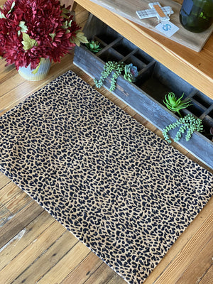DAY DREAMING LEOPARD RUG- BROWN AND BLACK - Infinity Raine