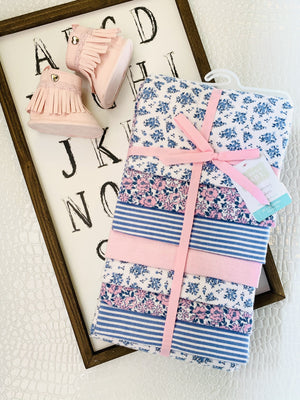 Cuddle Me Set Of 7 Receiving Blankets-Floral - Infinity Raine