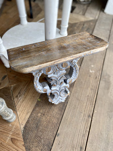 CARVED WOOD ORNAMENTAL SHELF - Infinity Raine