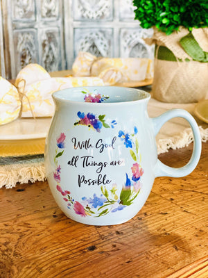 With God All Things Are Possible mug-Baby Blue - Infinity Raine