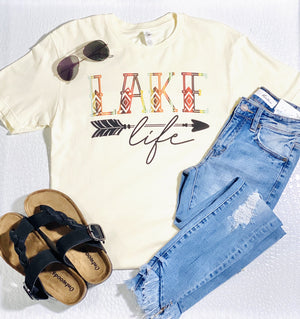 LAKE LIFE TEE-CREAM - Infinity Raine