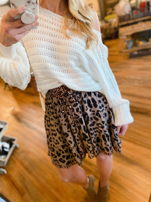 WILD DAYS AHEAD SKIRT-MOCHA - Infinity Raine