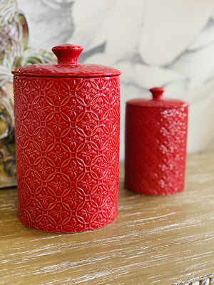 PICTURE PERFECT RED CANISTER-LARGE - Infinity Raine